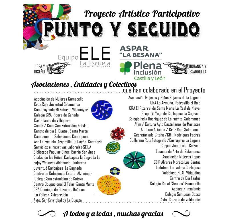 """Proyecto Artístico Participativo """"PUNTO y SEGUIDO"""". Aspar """"La Besana"""" 30 Aniversario"""